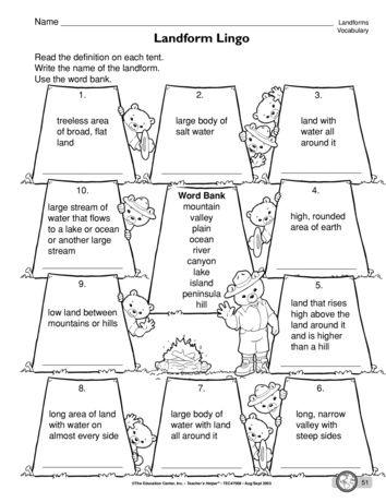 Landform Lingo Lesson Plans The Mailbox Landforms Worksheet 2nd Grade Worksheets Kindergarten Worksheets Landform worksheet 2nd grade