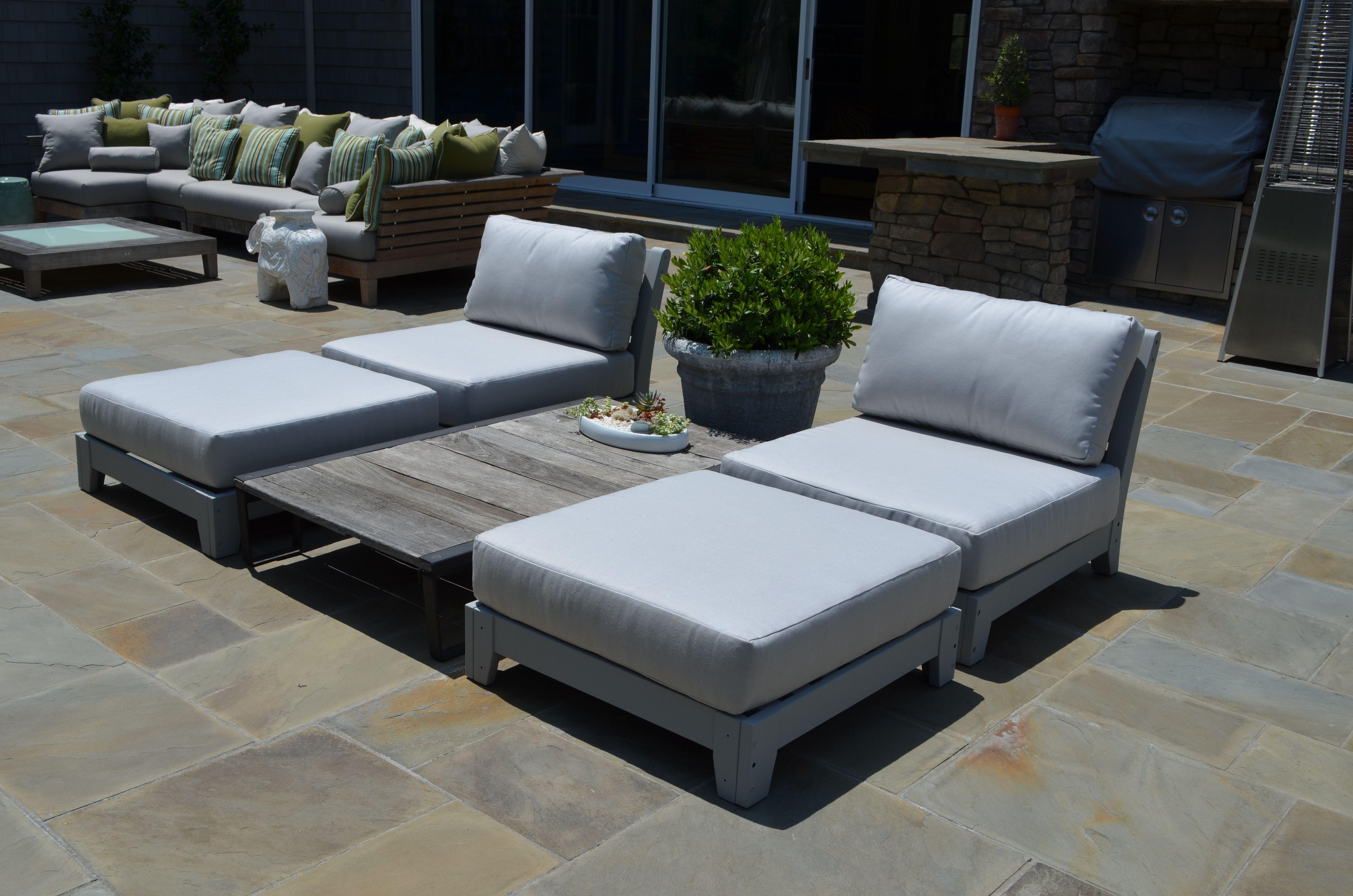 Custom Outdoor Cushions In Sunbrella Fabric And Dry Fast Foam