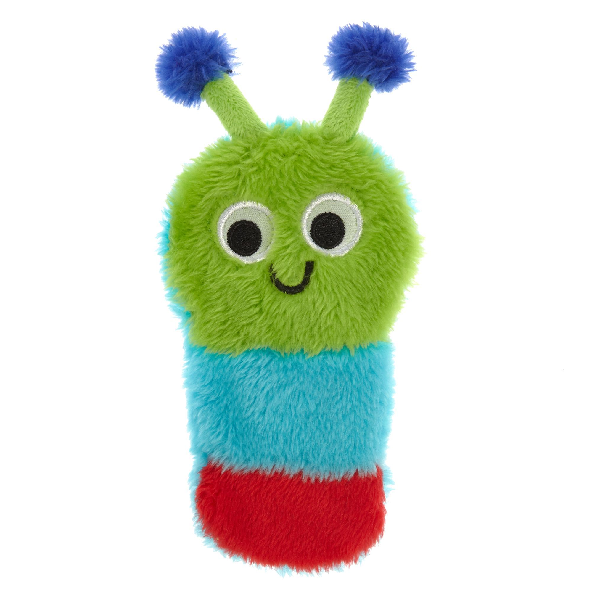 Top Pa Caterpillar Flattie Dog Toy Crinkle Size Small Top Paw