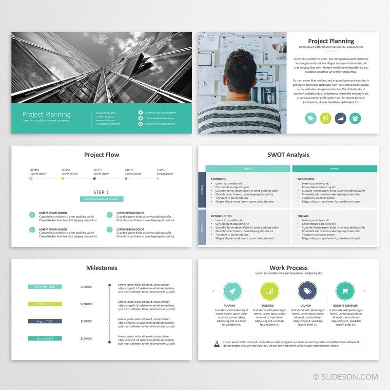Project Planning - Powerpoint Template Best PowerPoint Templates