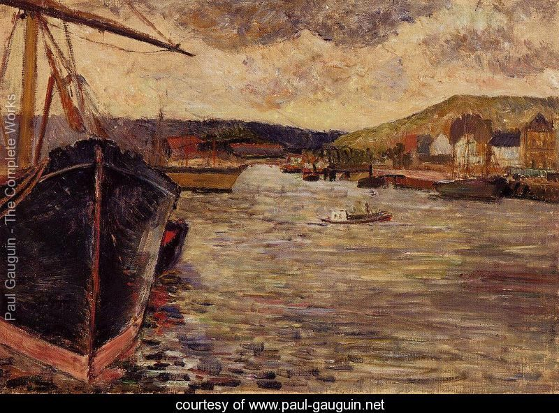 The Port Of Rouen - Paul Gauguin -