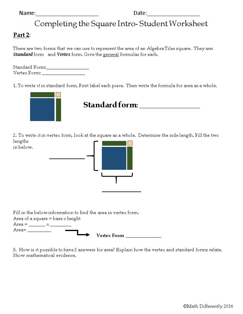 Completing the square exploration activity with algebra tiles completing the square exploration activity with algebra tiles falaconquin