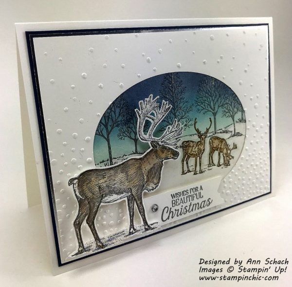 Card Making Ideas Nature Part - 19: Stampinu0027 Up!u0027s Nature Sings Stamp Set Is Used To Create A Sparkly Christmas  Card, As Ann Schach And The Schach Pack Wishes Everyone A Happy Holiday  Season.