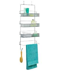 Argos Home 6 Double Ball Over Door Hooks Chrome Door Organizer Bathroom Storage Units Door Storage