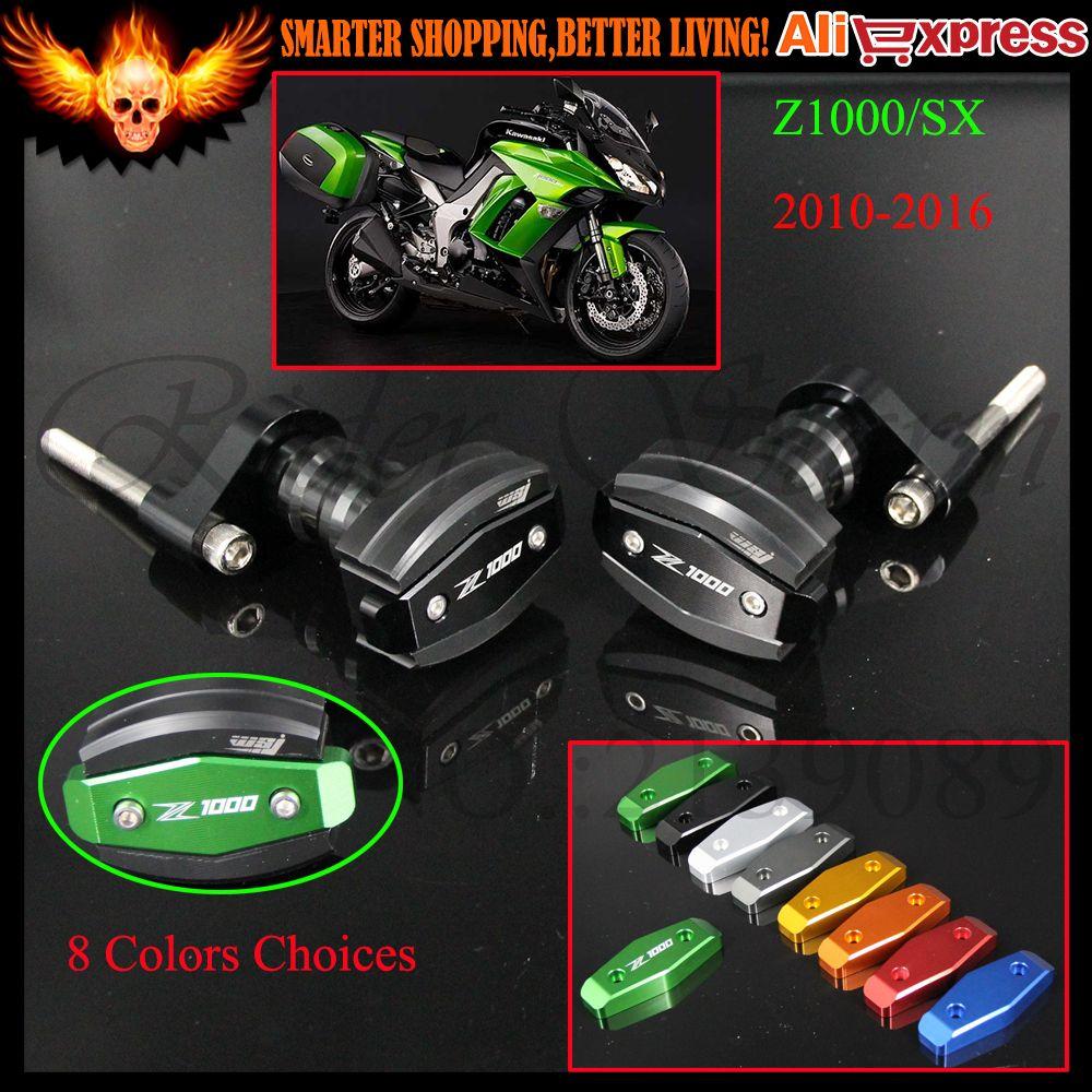 For Kawasaki Z1000 Sx 2010 2016 2011 2012 2013 2014 2015 Black Aluminum Motorcycle Frame Crash Slider P Motorcycle Frames Kawasaki Z1000 Motorcycle Accessories