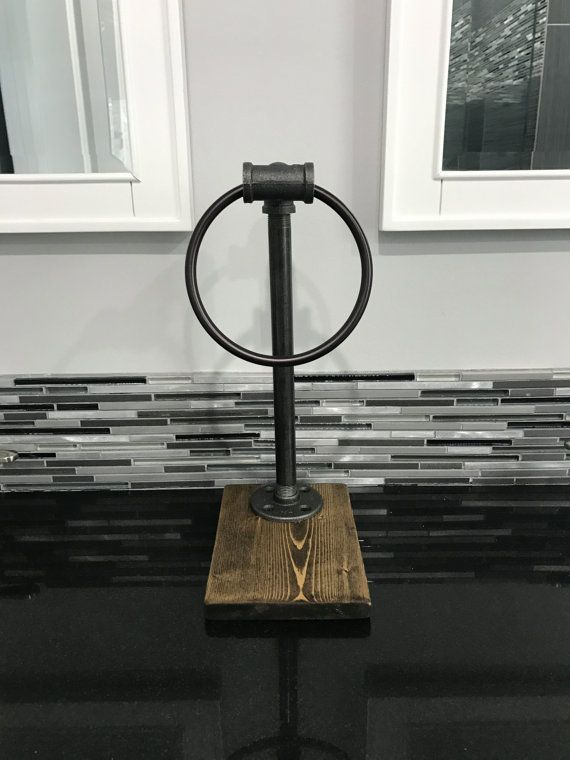 industrial rustic hand towel ring stand give your towel an elegant presence in this hand ring stand conveniently place towels or washcloths for rustic stand s52 stand