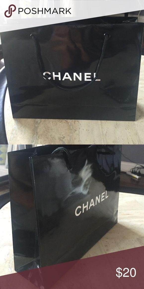 aac6db2c3736c2 Selling this Chanel Paper Shopping Bag on Poshmark! My username is:  honeypatel. #shopmycloset #poshmark #fashion #shopping #style #forsale  #CHANEL #Handbags