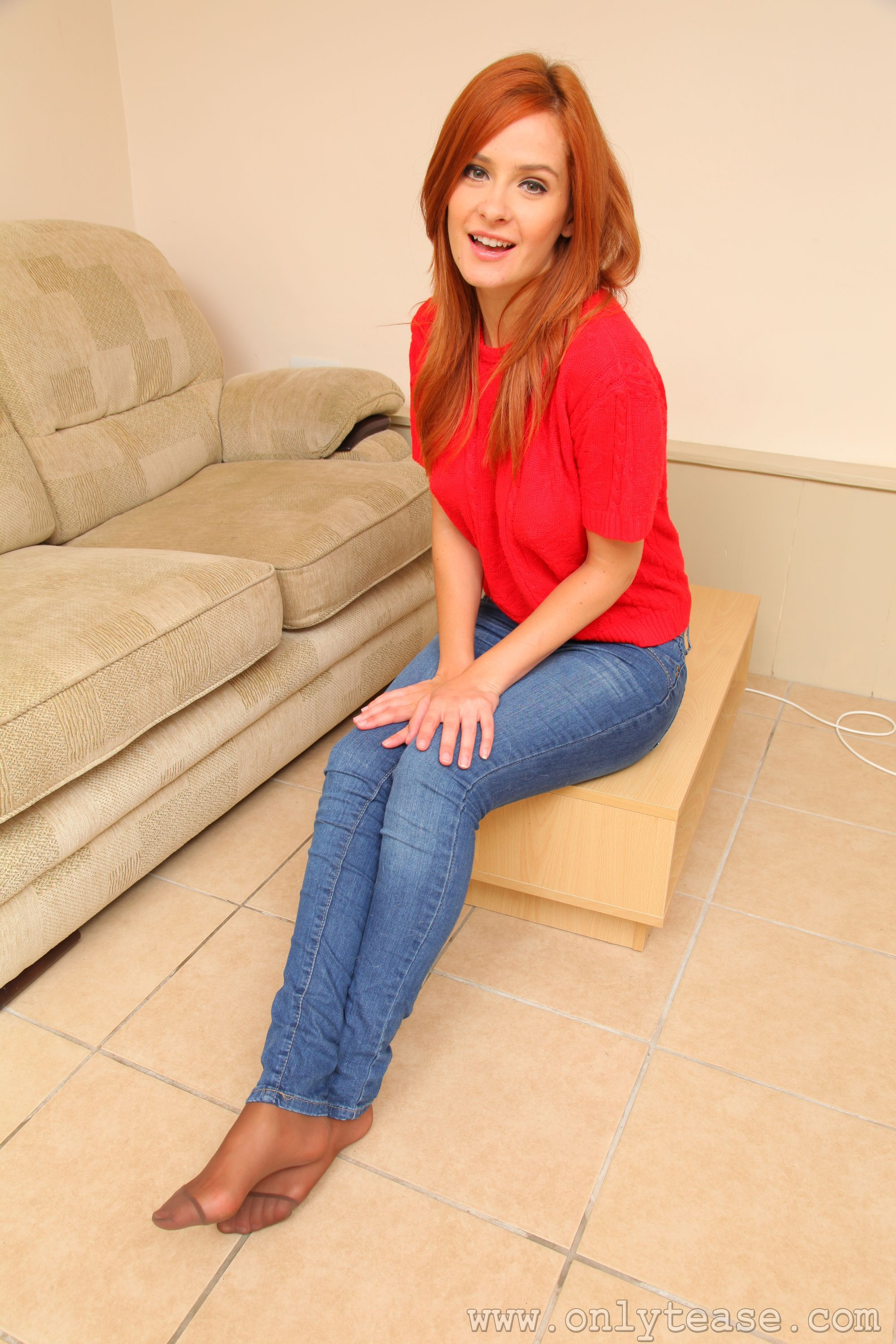 Feet pantyhose jeans images-6453