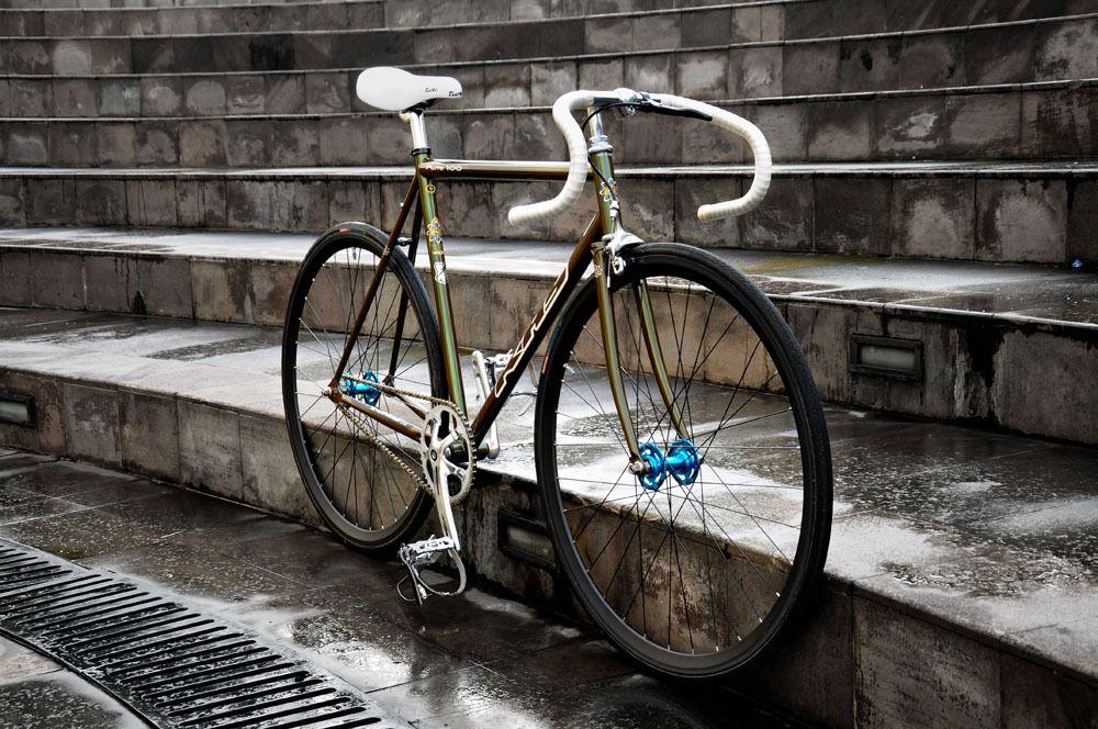 Khs Flite 100 Fixed Gear Threaded Stem Green Bike Photo Bike