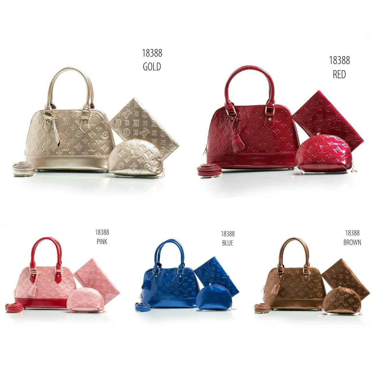 LV 18388 uk 28x12x19cm Semprem Bahan glossy Ada 5 warna   pink ddd7f90935