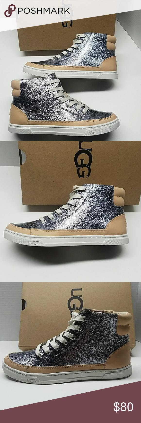 e71068ab3d9 UGG Gradie Glitter Gunmetal Hi-top Sneaker Shoes 5 UGG Gradie ...