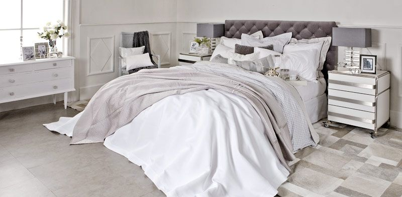 white bed zara home