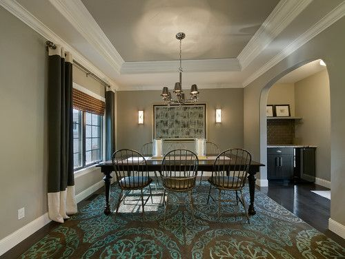 Tray And Coffered Ceilings With The Banding Painted In An Accent Delectable Coffered Ceiling Dining Room Design Decoration
