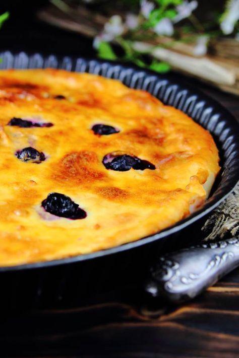 Milchreiskuchen mit Blaubeeren #recipeforpuffpastry