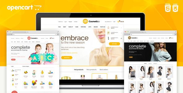 Cosmetico - Responsive OpenCart Template   Google fonts