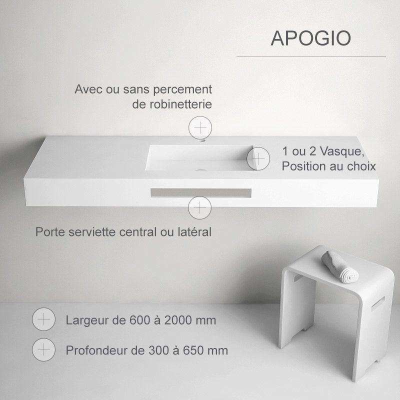 Plan Vasque En Resine Minerale Epaisseur 120 Mm Apogio Plan Vasque Salle De Bain Et Vasque