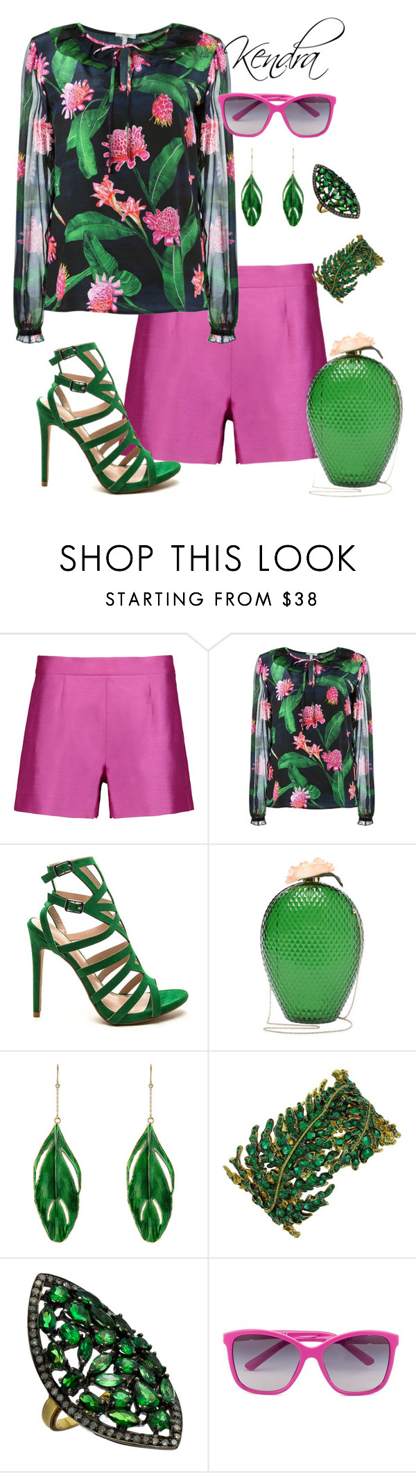"""Tropical "" by kmariestyles ❤ liked on Polyvore featuring Raoul, Isolda, Charlotte Olympia, Aurélie Bidermann, Divya Diamond and Dolce&Gabbana"