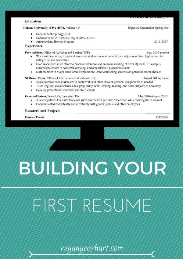 Building Your First Resumé Click through for five great tips on - how to write a good resume for your first job
