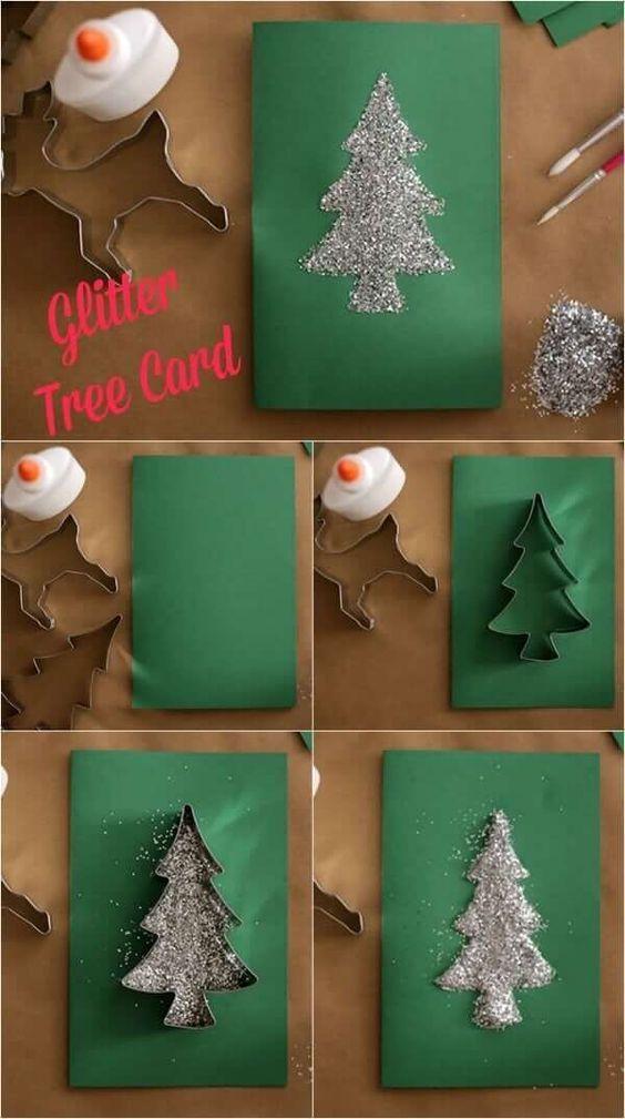 51 Christmas Diy Card Ideas For Kids Diy Christmas Decorations Easy Christmas Card Crafts Christmas Diy