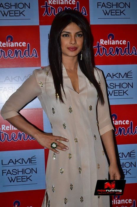 Priyanka Chopra Walks In Neeta Lulla Creation For Reliance Trends At Lakme Fashion Week Spring Resort 2017