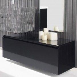 meuble bas salle de bain noir
