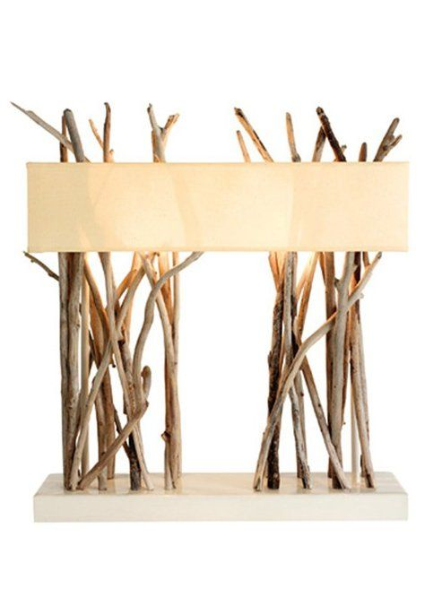Wooden table #lamp JINKOH by Bleu Nature #wood