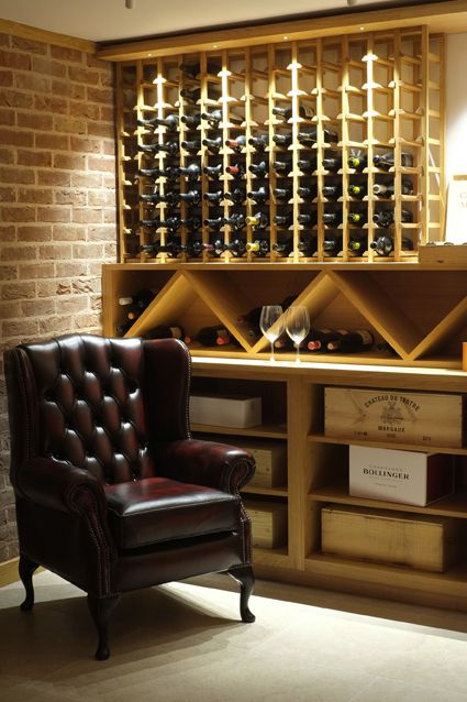L H Bespoke Wine Cellar With Storage For Cases And Magnums In The