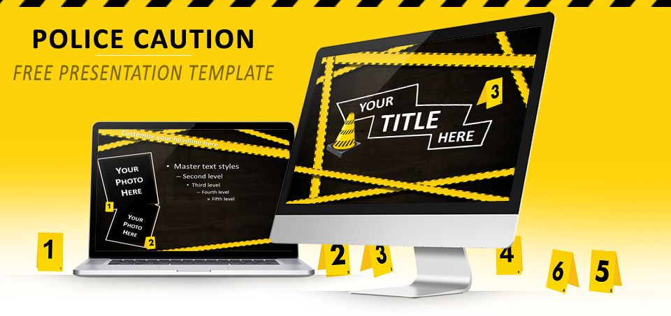 police caution free powerpoint and impress template templates for