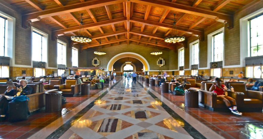 Union Station Los Angeles California Union Station Railway Station St Pancras Station