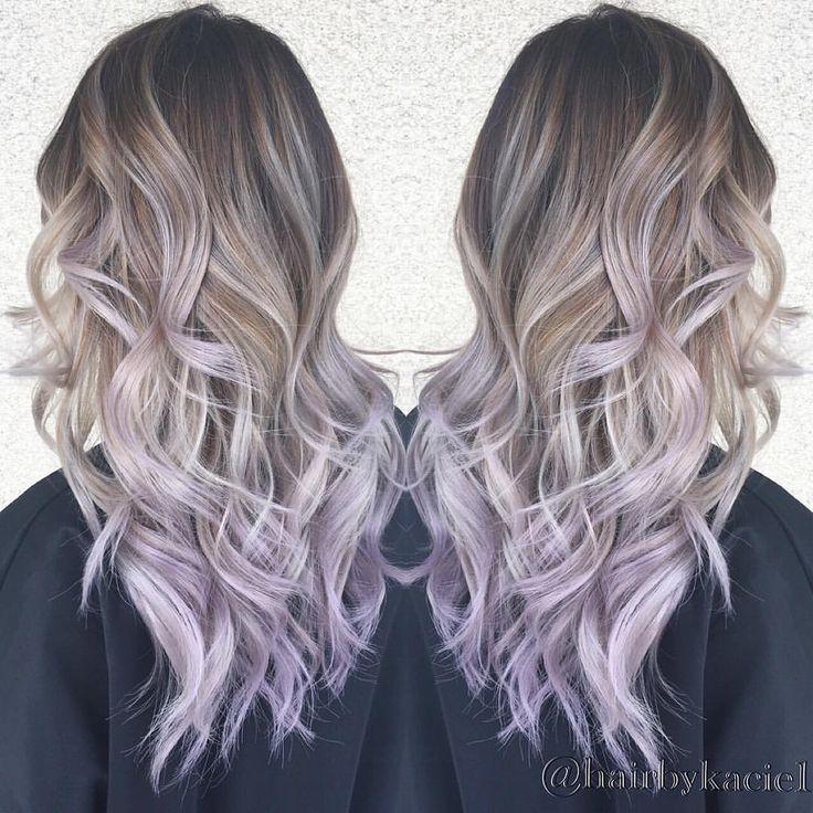 Instagram Photo By Kacie Nguyen Apr 22 2016 At 2 35am Utc Balayage Hair Light Purple Hair Lilac Hair