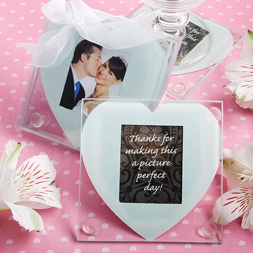 Heart Design Glass Photo Coaster Favors Wedding Coasters Favors Wedding Coasters Coaster Favor