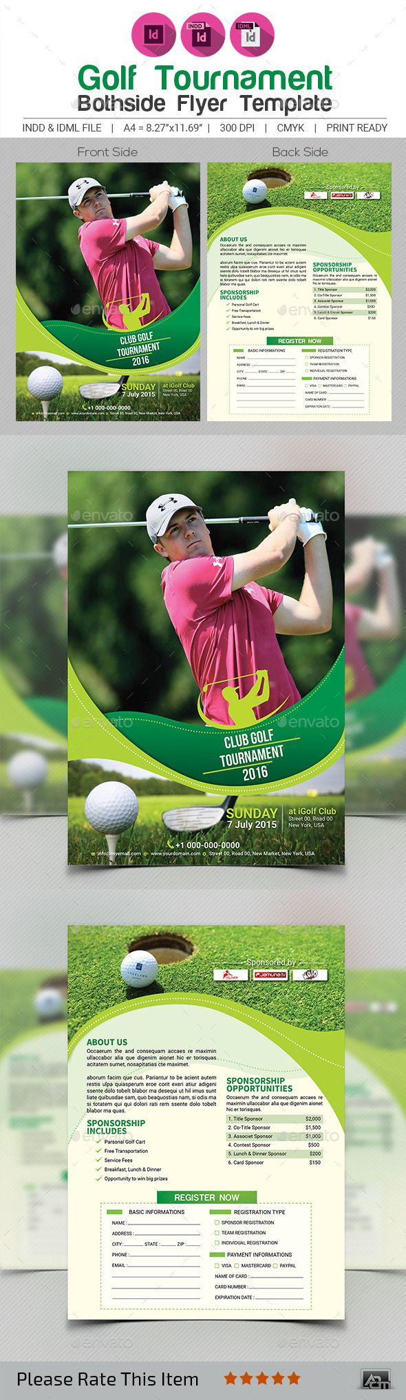 Golf Tournament Flyer Template V  Flyer Template Golf And Event