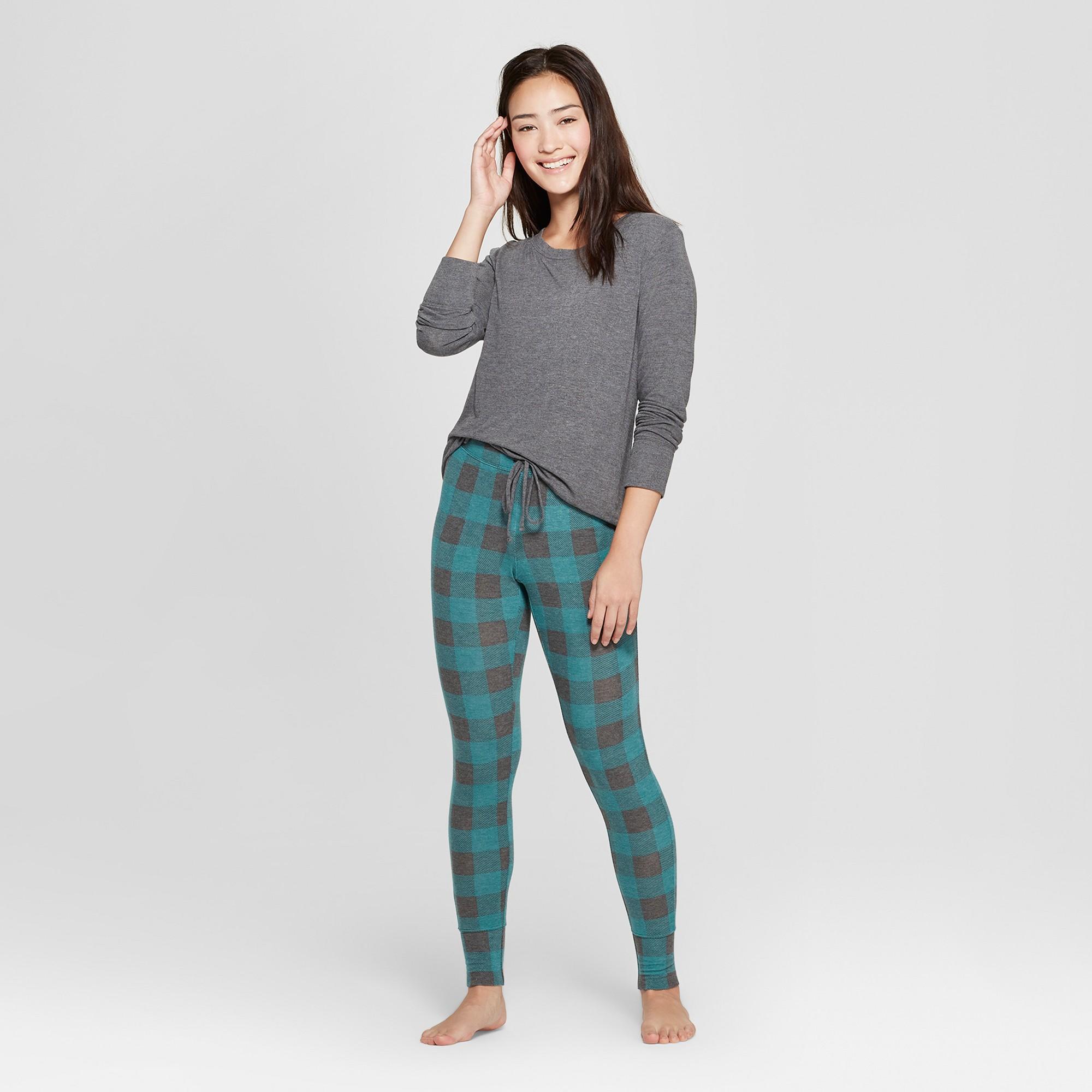 eb1ff4242d61 Women s Cozy Pajama Set - Xhilaration Green XS