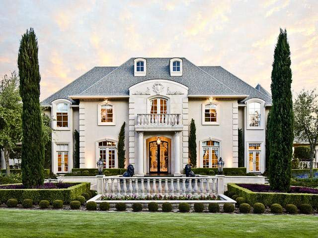 French Renaissance Style Homes French Country Exterior French Style Homes Stucco Homes
