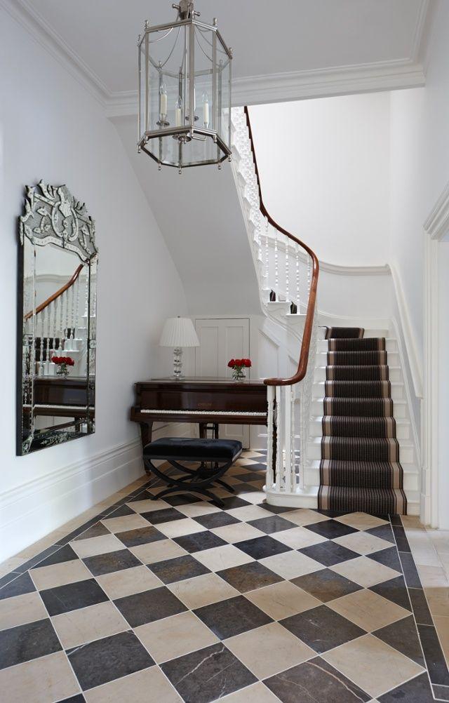 Afbeeldingsresultaat Voor Black White Floor Tiles Hallway