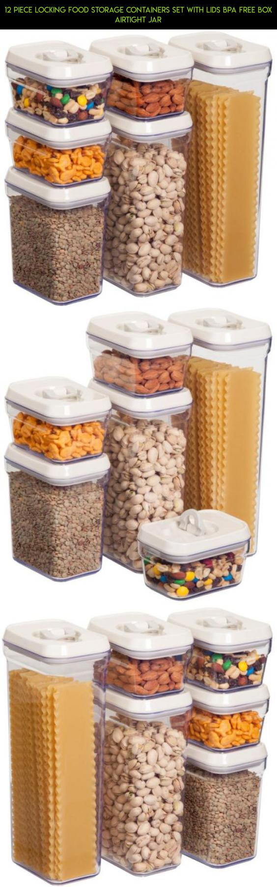 Beau 12 Piece Locking Food Storage Containers Set With Lids BPA Free Box  Airtight Jar #drone
