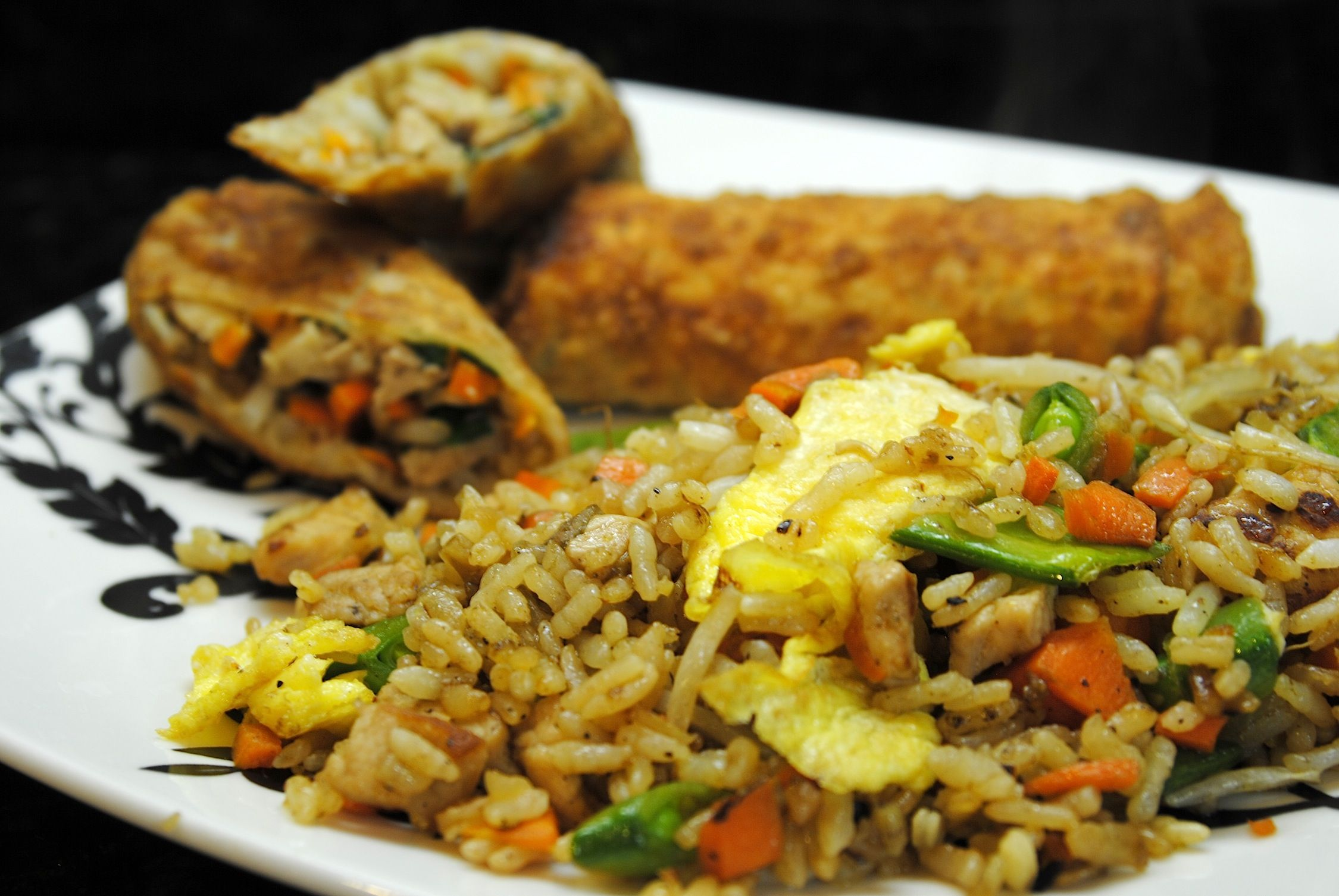 Chicken and veggie egg rolls with pork fried rice recipes chicken and veggie egg rolls with pork fried rice forumfinder Images