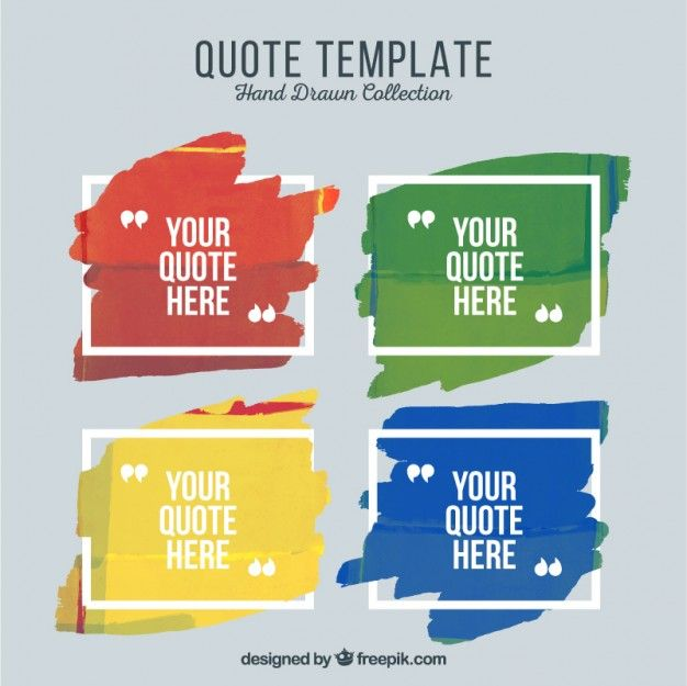 Artistic quote templates of paint Free Vector Quote Templates - how to create a quotation template