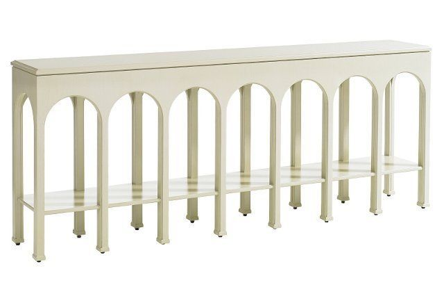 Beatrix Console Ivory 1600 85 8 W X 14 8 D X 34 H Console Table Stanley Furniture Furniture