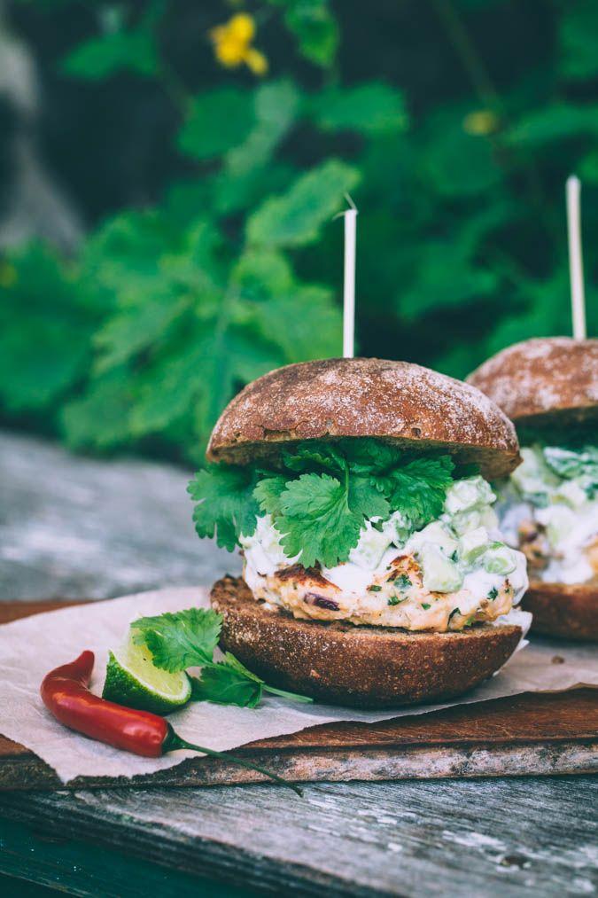 Salmon burger   Lohihampurilainen   Liemessä