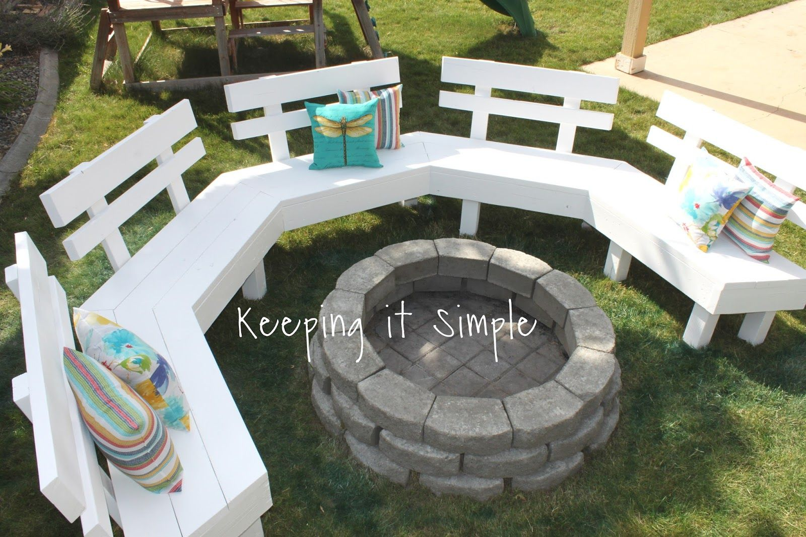 Diy Fire Pit Bench With Step By Step Insructions Outdoor Fire