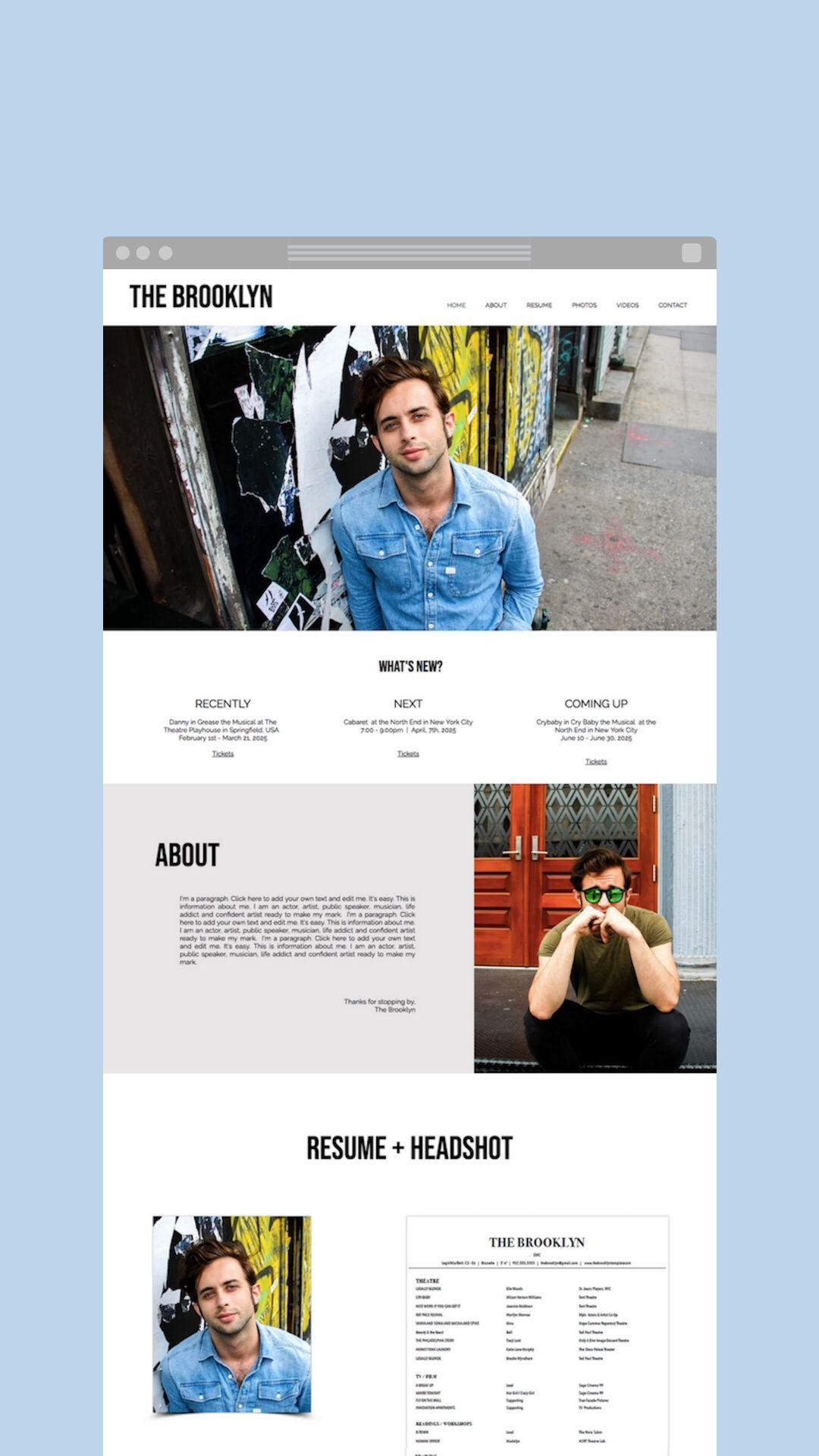 The Brooklyn Website Template Wix Website Design Website Design Wix Website
