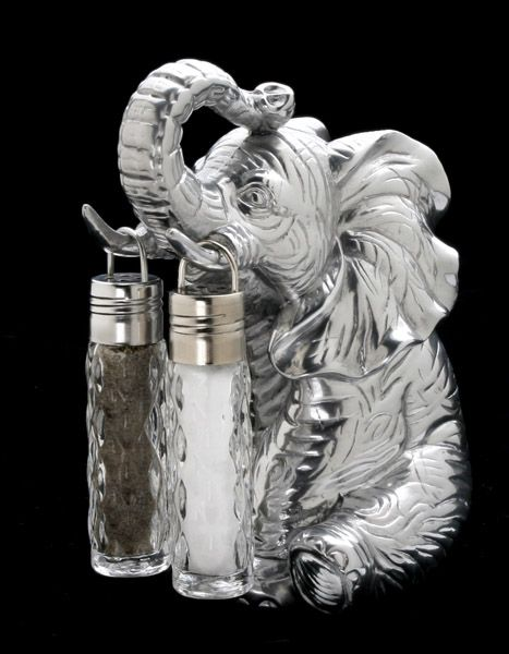 Spice Up Your Table With This Fun Salt And Pepper Shaker Set Elephant Salt And Pepper Set Elephant Elephant Decor