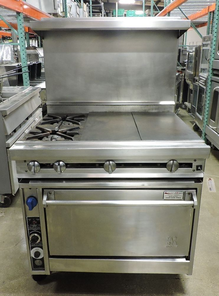 Used Jade Range JTRH 36GT 36C Griddle Top Range With 2 Burners Amp  Convection Oven