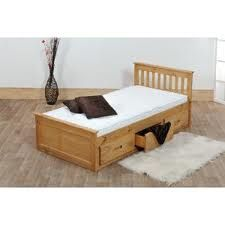 Wooden Single Bed Frame Stained Black Brown Inspirational
