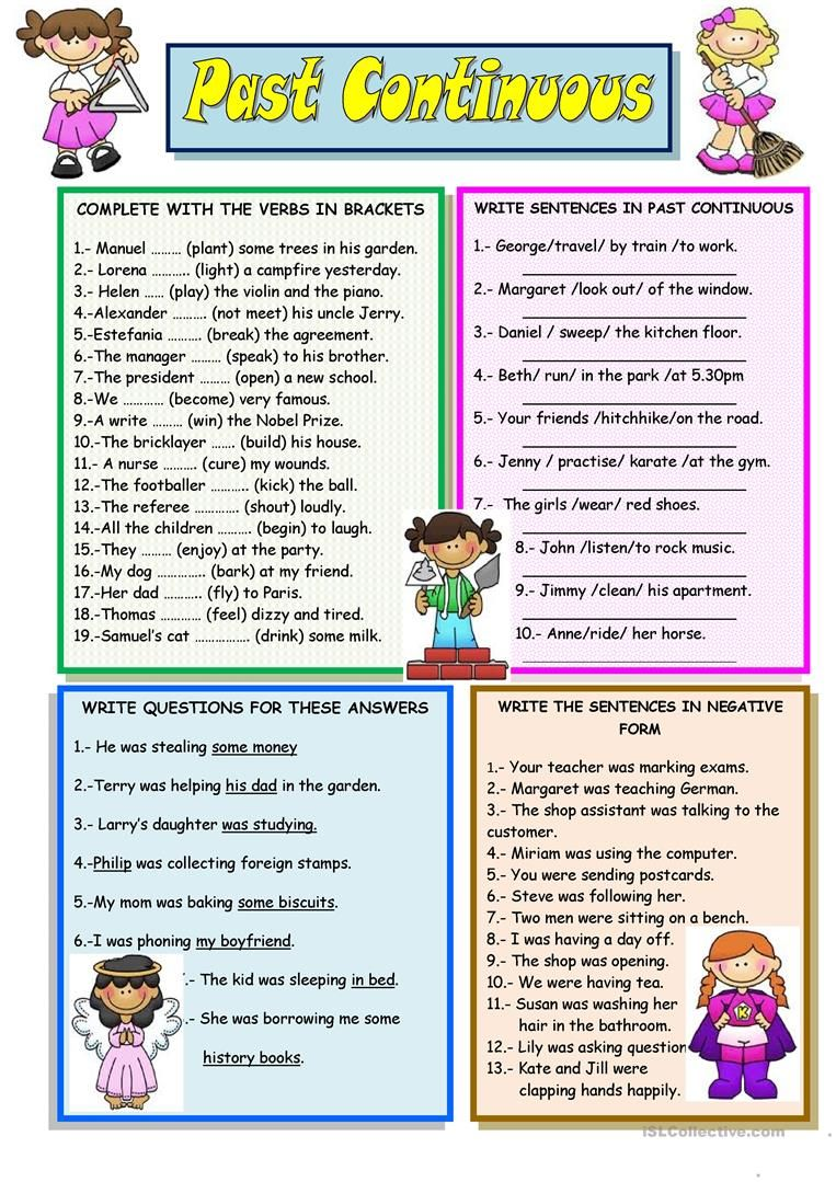 Past Continuous Worksheet Free Esl Printable Worksheets Made By