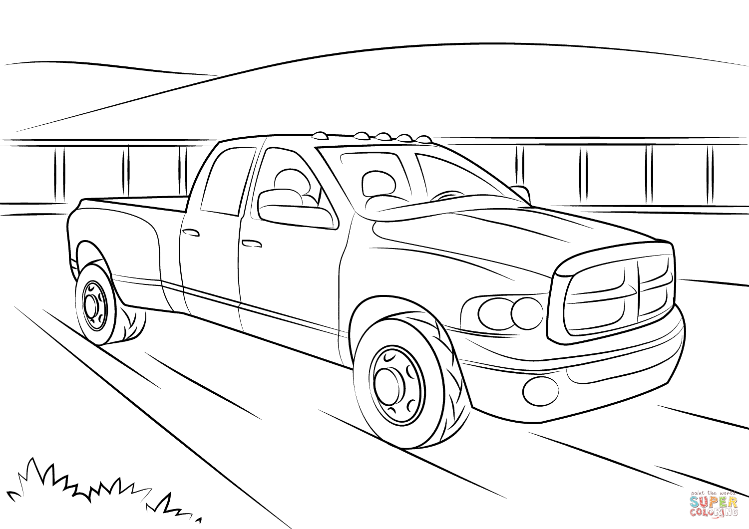 Dodge Jacked Up Truck Coloring Pages Automotive News
