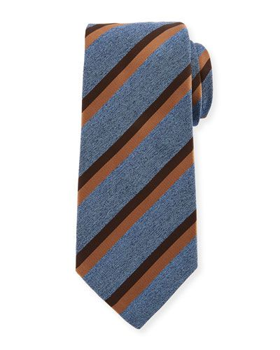Ozie Mens Bow Tie 100/% Silk Stripe