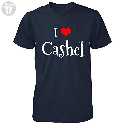 I Love Cashel. Funny Gift - Unisex Tshirt Navy L - Birthday shirts (*Amazon Partner-Link)