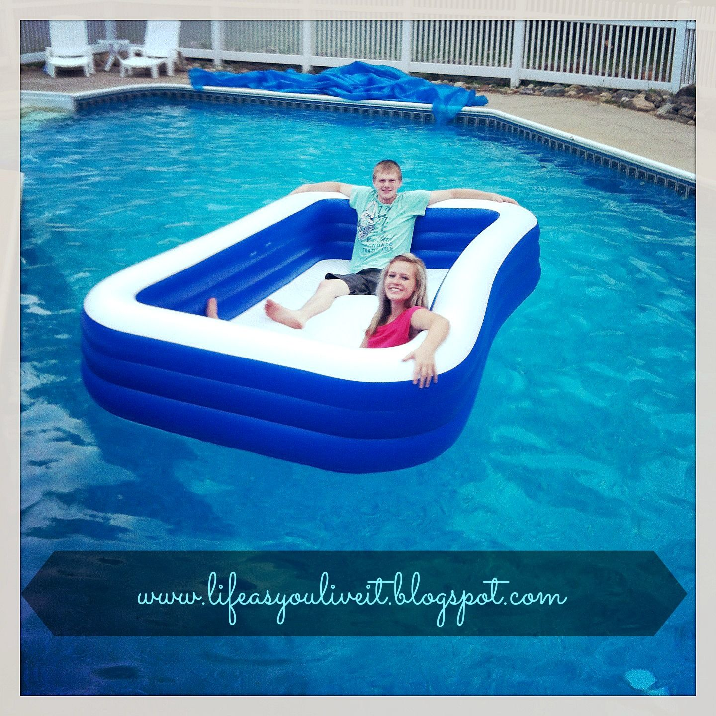 A Blow Up Pool Inside Of A Pool Inside Pool Blow Up Pool Pool